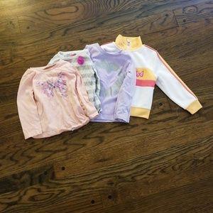 Baby girl 18 m used long sleeve shirt bundle